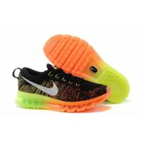 Buy cheap Nike Flyknit Air Max Black Green Orange Mens Shoes from wholesalers