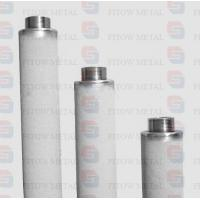 China Purity 99.7% pure titanium powder cartridge micro filter for ozone water treatment on sale