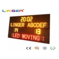 Quality New Design Standard Electronic Soccer Scoreboard with Led Team Name and Moving Sign for sale