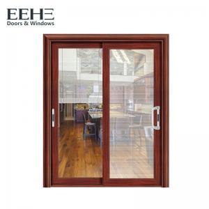 Quality Horizontal 3 Panel Aluminium Sliding Door / Single Rail Aluminium Exterior Doors for sale