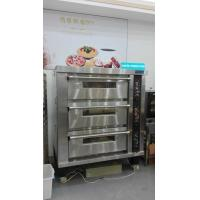 China 3 Deck 12 Trays Electric Oven For Baking , Big Glass Door Gas / Electric Deck Pizza Oven on sale