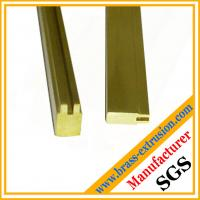 China OEM design lock key cylinder material brass extrusion profiles sections on sale