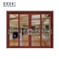 Quality Thermal Break Aluminium Sliding Patio Doors For Commercial Buildings 4 Panel for sale