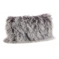 Quality Tibetan Sheepskin Sofa Pillow Covers 10-15cm Long Curly Hair For Bed / Sofa / Chair for sale