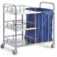 Quality Stainless Steel Medical Cart Instrument Trolley With Drawer And Three Shelves for sale