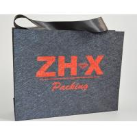 China Luxury Personalised Paper Fabric Bags Hot Stamping For Jewelry Packaging on sale