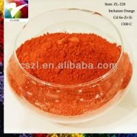 China 1300C degree orange sanitary ware pigment, ceramic stains pigment, glaze pigment on sale
