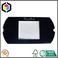 Quality Silver Hot Foil Logo Black Color Printing Pillow Paper Box with Open Window for sale