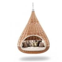High quality Outdoor Garden Hanging swing egg chair patio PE Rattan wicker sofa Furniture for sale