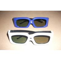 Quality Green Blue Stereoscopic Universal Active Shutter 3D Glasses Compatible Link for sale