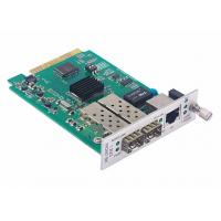 Quality 1x10/100/1000Base-T to 2x1000Base-X Media Converter Card with Fiber Protection for sale