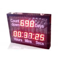 Quality Outdoor Led Digital Clock Large Display With Wireless Remote Controller for sale