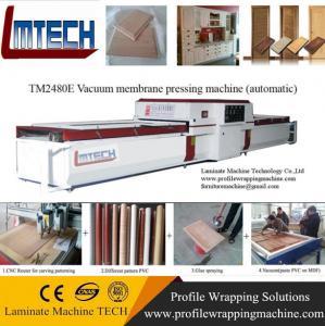 China High gloss standard kitchen cabinet vacuum membrane press machin on sale
