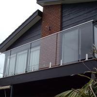Buy cheap Top Quality tempered glass stair railing cost with stainless steel baluster for balcony from wholesalers