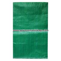 Quality Biodegradable Green PP Woven Bags for Packing Limestone / Industrial PP Sacks for sale
