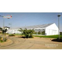 Transparent Structure Banquet Event Tent  30m x 55m with Clear PVC Roof and Glass Sidewalls for sale