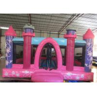 Quality Princess Castle Kids Inflatable Bounce House 0.55mm Pvc Tarpaulin 3 - 15years Old Children for sale