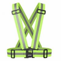 China 100% Polyester High Visibility Strap Vest 120g/m2 Solid Knitted Fabric on sale