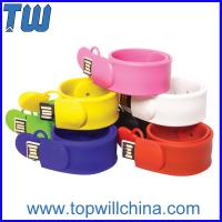 Quality Fashion Silicone Clap Wristband 8GB 16GB Thumb Drive for Kids for sale