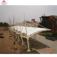 China Double - Layer Insulation Material Tensile Membrane Structures For Car Park Shed Or Bus Station on sale
