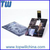 Hotsale Credit Card 64GB Usb Thumb Drive with Digital Printing for Company Gifts