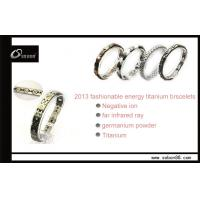 Quality Good for body health power magnetic titanium bracelet with germanium titanium for sale