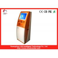 """Quality 19"""" Freestanding Bill Payment Kiosk, Bitcoin Vending Machine With Bill Recycler for sale"""