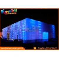 Quality PVC Coated Nylon Inflatable Cube Tent With Led Lighting / Blow Up Event Tent for sale