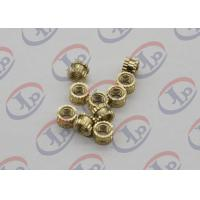 Quality OEM ODM CNC Machining Parts , Swiss Lathe Turning Brass Knurled Nuts with M5 Thread for sale