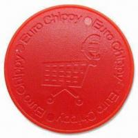 Quality Plastic Trolley Coins, Customized Logos are Welcome, Made of ABS Plastic for sale