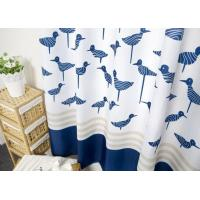 Quality Waterproof Printed White Bathroom Shower Curtains Thickening Plated Style for sale