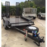 Quality Dual Axle 3.5 Ton / 4.5 Ton Plant Equipment Trailer , Heavy Equipment Trailers for sale