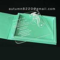 Quality clear acrylic invitation for sale