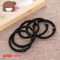 Quality Black Color Women Elastic Hair Tie Band Rope Ring Ponytail Holder Nylon Hair Style Head Band Accessories for sale