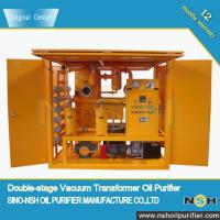 China Famous Brand Sino-NSH Transformer Oil Purifier, VF/VFD/VFD-R, 5 PPM water content, 0.1% gas content,mobile type for sale