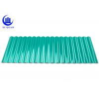 Quality Heat Insulation Green Plastic Roofing Sheets Tiles 1.0 Mm Thickness for sale