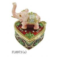 China Alloy Elephant Jewelry Box Small Jewelry Box on sale
