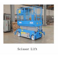 3.5km/H Lifting Speed Vehicle Scissor Lift , Self Propelled Electric Scissor Lift Steel Material for sale