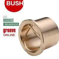 Quality Precision Flanged Groove Cast Bronze Bushings Spiral Inside Groove Bearings for sale