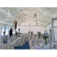 Buy cheap 300 People Luxury Wedding Reception Tent with Aluminum Frame White Party Marquee from wholesalers