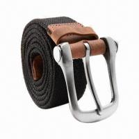 New Design Fashionable Men's Cotton Webbing Belt, 115cm Length for sale
