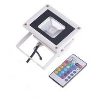 Quality high lumens AC100-240v ip65 outdoor 10w led rgb flood light rgb led floodlight with remote for sale