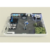 Quality Multiplayer Shooting Space Standing Platform 9D VR Theme Park for sale