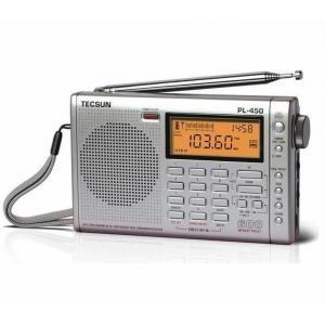 Quality TECSUN PL450 FM stereo SW MW LW PLL Shortwave Digital Full Band Portable Radio Synthesized Receiver for sale