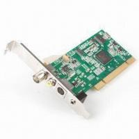 Quality TV Tuner Card, PCI Silicon, with Customizable Channel Lists and Still-image Snapshots for sale