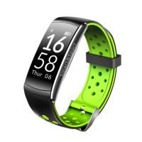 Quality 0.96 inch 128*64 dots Size HR sensor Silicon labs Si1142 red green black Tricolor smart watch. for sale
