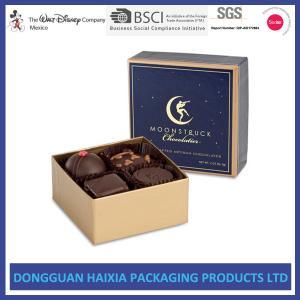 China Food Grade Cardboard Storage Boxes Glossy Varnishing Design For Chocolate on sale