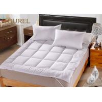 Quality White Queen Bed Mattress Protector For Hotel Hospital Spa Home for sale