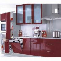 China Red Lacquer Finish Kitchen Furniture/America Standard Kitchen Cabinet on sale