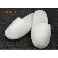 Quality EVA Sole Waffle Indoor Disposable Hotel Slippers With Custom Logo for sale